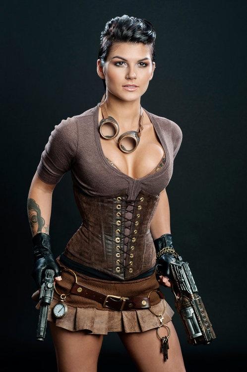 Steampunk Lara Croft Cosplay