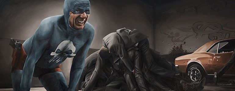 Awesome Aging Superhero Oil Paintings