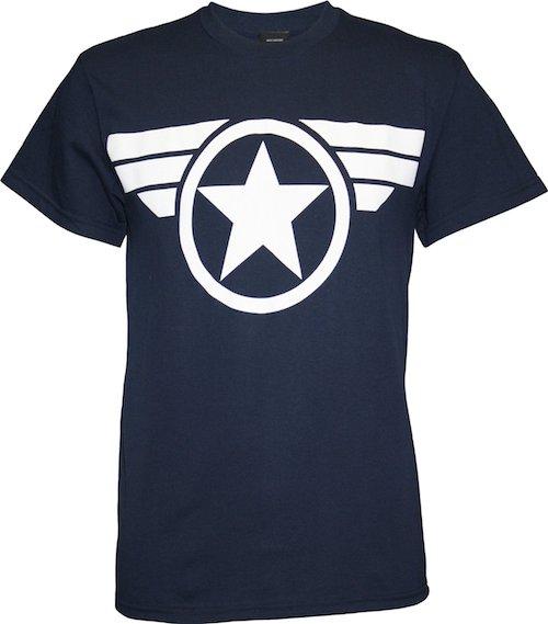 Captain America Good Ol Steve Mens Navy Blue T-shirt