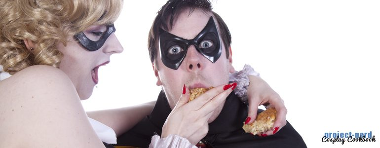 Cosplay Cookbook: Harley Quinn & Robin with Bacon Biscuits
