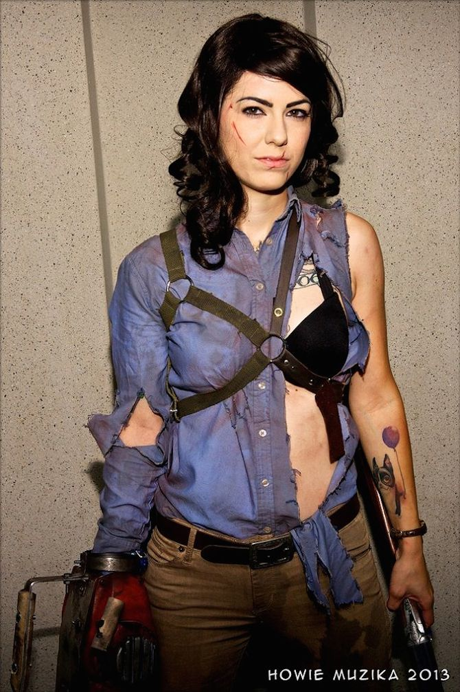 jessica as ash williams the ten halloween cosplay special project nerd