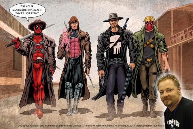 Deadpool-Gambit-Punisher-Grifter-showdown