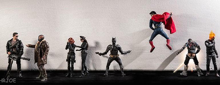 Secret Life of Superhero Toys