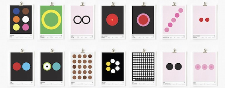 Famous Movies as Circle Only Posters