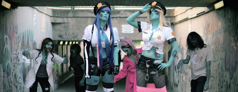 Zombie Police 'Panty & Stocking' Cosplay