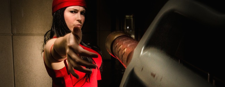 Exclusive Elektra/Daredevil Cosplay