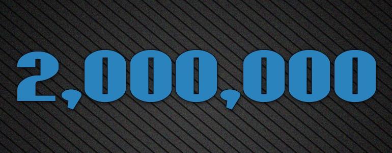 2,000,000 Visits Giveaway