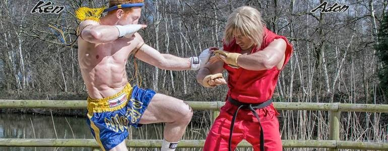 Ken vs Adon (Street Fighter) Cosplay