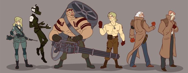 Metal Gear Cartoon Art