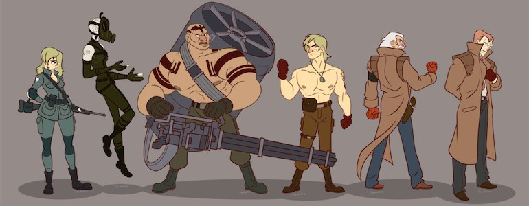 Metal Gear Cartoon Art