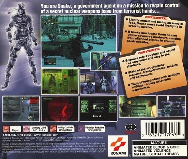 Metal Gear Solid packaging