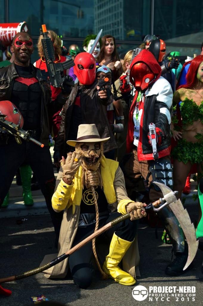 New York Comic Con, NYCC, cosplay, DC Comics, Deadshot, Scarecrow, The Joker