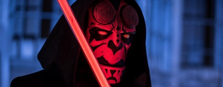 Sithboy: Darth Maul & Hellboy Mashup