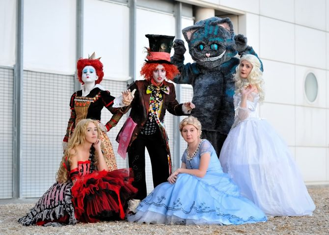Alice in Wonderland, Alice, The Mad Hatter, Mad Hatter Tea Party, White Rabbit, Anniversary4