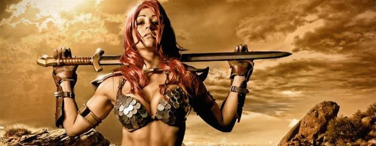 Epic Red Sonja Cosplay