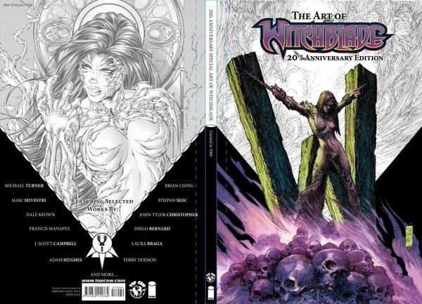 The Witchblade 20th Anniversary Art Of Hardcover open