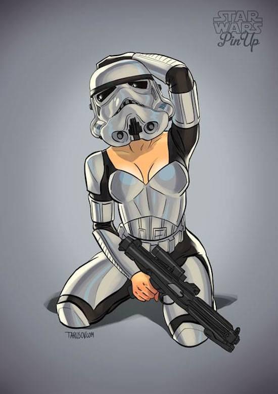 Tarusov-Star-Wars-Pinup Stormtrooper