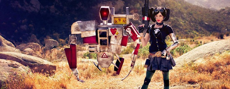 Ultimate Mechromancer and Deathtrap Cosplay Pair