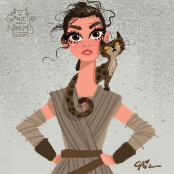 Star Wars Cats by GritzandNorm2, Star Wars Cats by GritzandNorm1, Star Wars, kitties, The Force Awakens, fan art, GrizandNorm, BB-8, cosplay
