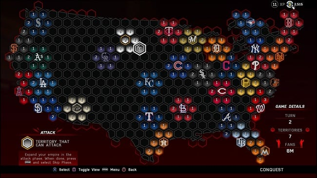 MLB(R) The Show(TM) 16 Conquest Map