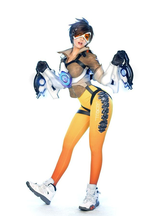 Tracer, Overwatch, gamer, gaming, cosplay02