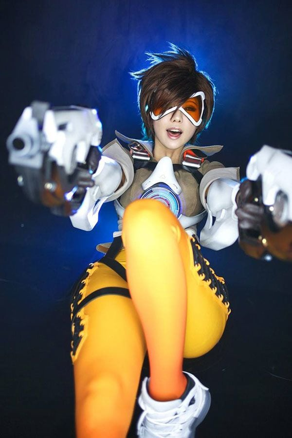 Tracer, Overwatch, gamer, gaming, cosplay04