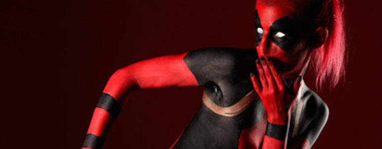 Fun With Deadpool Body Paint
