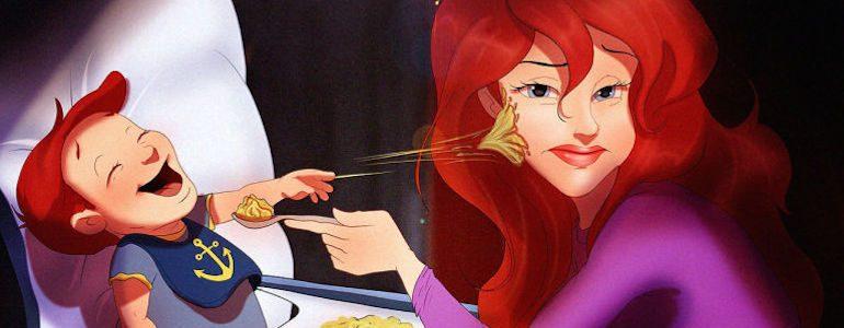 Disney Princesses & Princes as Parents