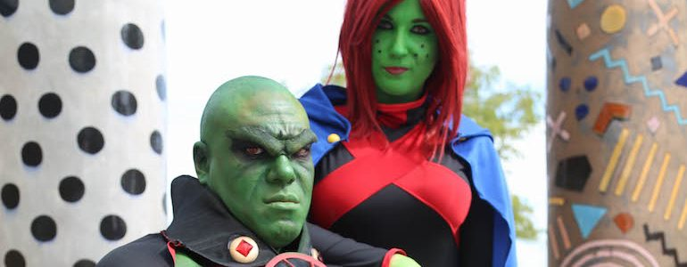 Martian Manhunter & Miss Martian Cosplay