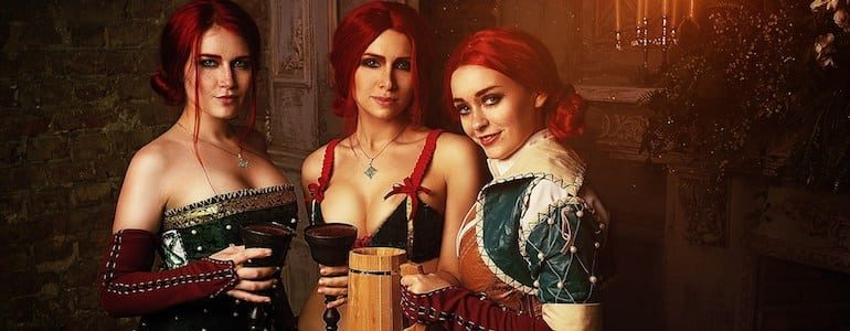 Triple the Triss Cosplay
