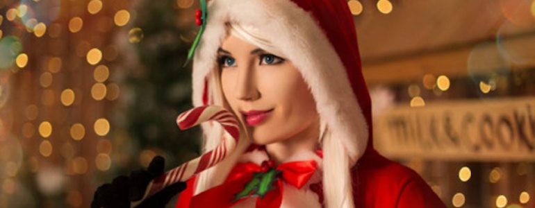 Lunaritie's Christmas Ashe Cosplay