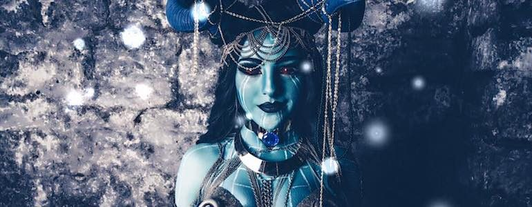Incredible Frost Giant Lady Loki Cosplay