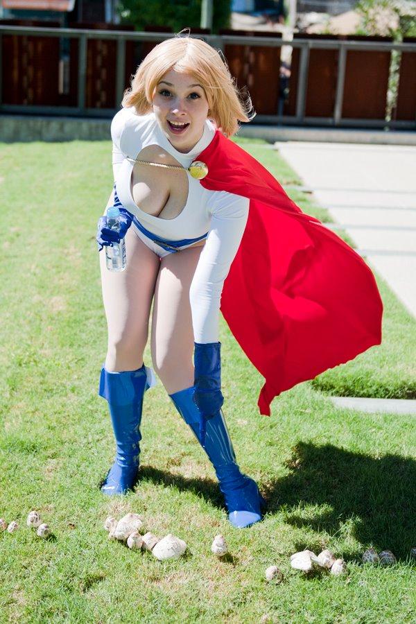 Cosplay nude girl power