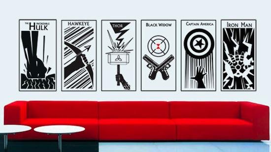 The Avengers Vinyl Wall Art Decal ProjectNerd - Vinyl wall decals avengers